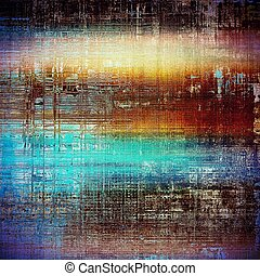 Distressed texture with ragged grunge overlay. Wrinkled background or backdrop with different color patterns: yellow (beige); brown; blue; red (orange); purple (violet); cyan