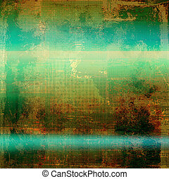 Distressed texture with ragged grunge overlay. Wrinkled background or backdrop with different color patterns: yellow (beige); brown; green; blue; cyan