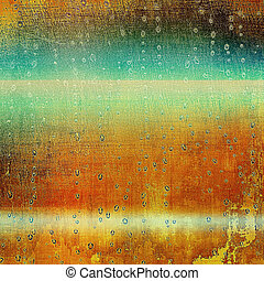 Distressed texture with ragged grunge overlay. Wrinkled background or backdrop with different color patterns: yellow (beige); brown; green; blue; red (orange)