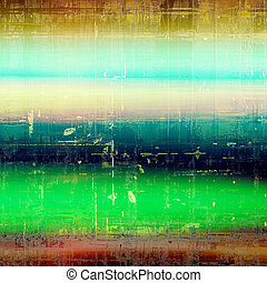 Distressed texture with ragged grunge overlay. Wrinkled background or backdrop with different color patterns: yellow (beige); brown; green; blue; red (orange); cyan
