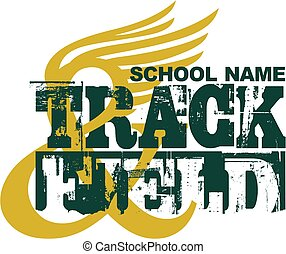 track and field - distressed track and field team design ...