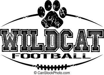 wildcat football - distressed wildcat football team design...