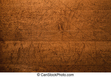 Distressed Wood Table Top Background - Overhead shot of the...