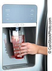 distribuidor água, refrigerador, gelo