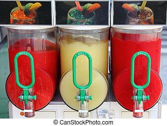 distribuidor, bebida, gelo esmagado