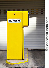 distribuidor, bilhete
