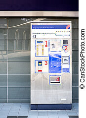 distribuidor, bilhete, trem