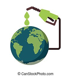 distribuidor, mundo, terra, combustível