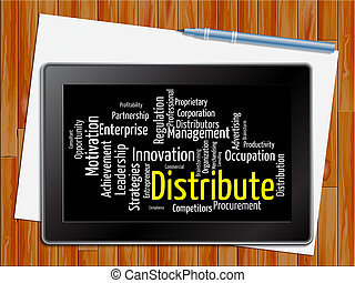 Distribute Word Shows Supply Chain 3d Illustration