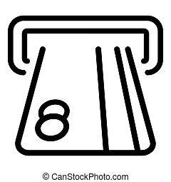 distributeur billets banque, crédit, fond, blanc, carte, icône