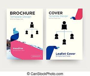 distributeur, brochure, aviateur, conception, gabarit