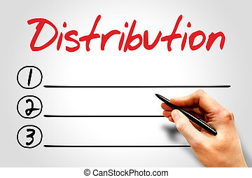 Distribution blank list, business concept