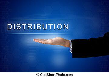 distribution button on virtual screen