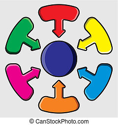 Distribution Circle Vector