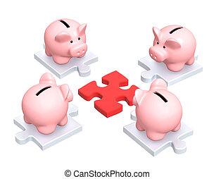 Distribution of finances - Conceptual image - distribution...
