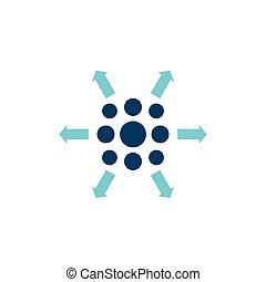 distribution process icon
