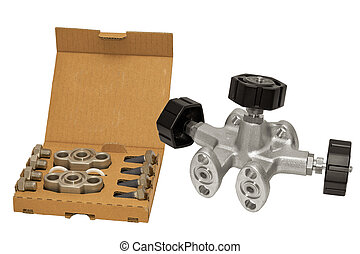 Distribution valve. - Set of equipment, switchgear and valve...