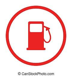 distributore di benzina, cerchio