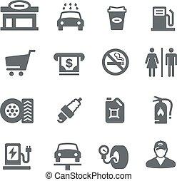 distributore di benzina, -, utilità, serie