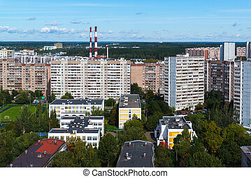 district, canaux transmission, moscou, chp, zelenograd, ...