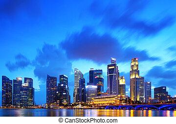 district financier, singapour