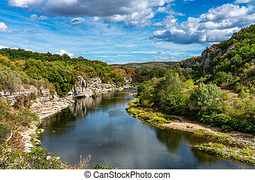 district, france, ardeche, paysage, vue, balazuc