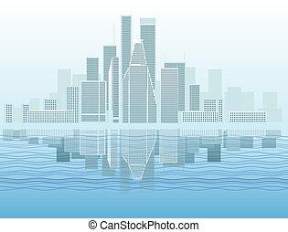 district, moderne, ville