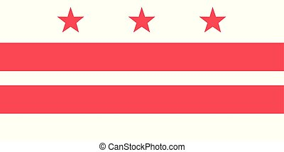 District of Columbia vector flag. Vector illustration. United States of America. Washington, DC