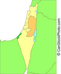 districten, israël, secretarieel, omliggend, landen