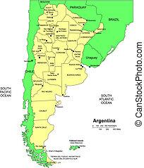 districts, administratif, argentine, entourer, pays