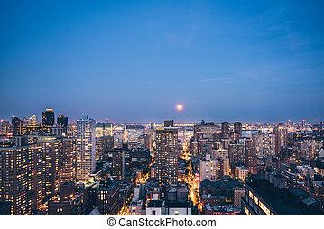 districts, nouveau, soir, york