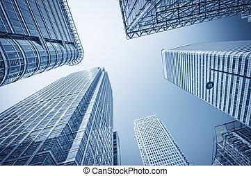distrito financeiro, cais, london., canário