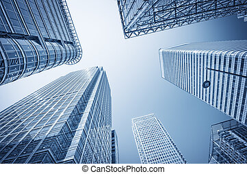 distrito financiero, muelle, london., canario