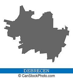 distritos, mapa, fronteras, ciudad