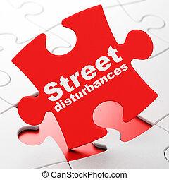 disturbances, rompecabezas, calle, Plano de fondo, política,  concept: