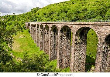 disused, ferrocarril, viaducto, smardale.