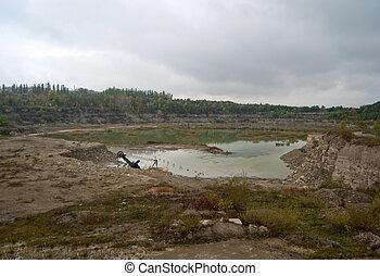 granite quarry - disused flooded granite quarry