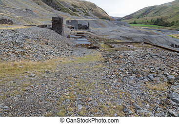 Disused lead mining area Cwmystwyth, Wales