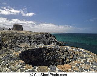 Disused lime kiln - Fuerteventura - Canary islands - Coastal...