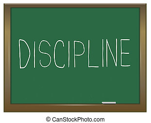 disziplin, concept.