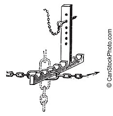 dit, dombasle, vendange, roue dentée, contrôleur, t, ou, engraving.