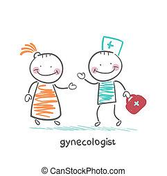 dit, patient, gynécologue