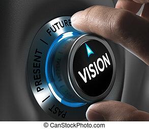 ditta, o, corporativo, concetto visione
