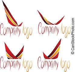 ditta, set, logos.