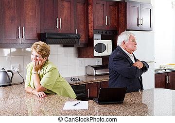 divórcio, par velho
