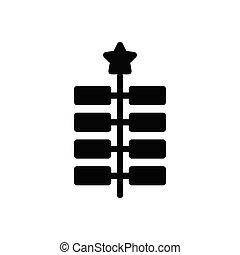 diva  glyph flat icon
