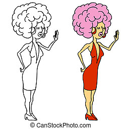 Diva Pose - An image of a diva girl posing with big hair.