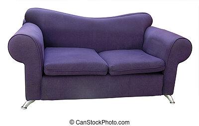 divan, confortable, vieux