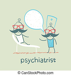 divan, dit, patient, mensonge, psychiatre