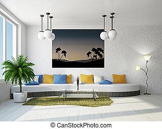 divano, livingroom, grande
